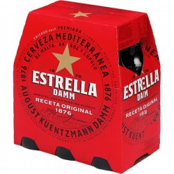 CERVEZA ESTRELLA 1/4 PACK-6