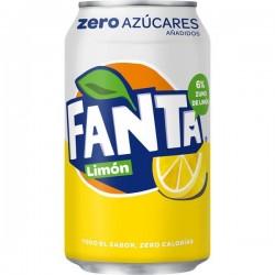 FANTA ZERO LIMON LATA 33CL