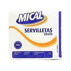 SERVILLETA MICAL BLANCA 33X33 70U