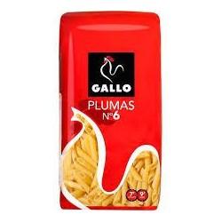 PASTA GALLO MACARRON PLUMA 6 500 GR