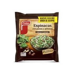 ESPINACAS PASAS Y PIÑON FINDUS 450GR