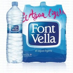 AGUA FONT VELLA 1,5L PACK 6