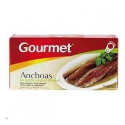 ANCHOAS GOURMET ACEITE VEGETAL 47GR