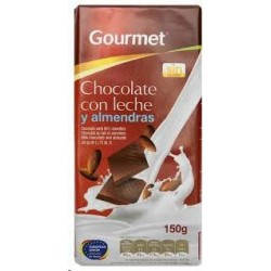 CHOCOLATE GOURMET C/LECHE ALMENDRAS 150