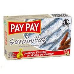 SARDINILLAS PAY PAY PICANTES ACEITE RR-9