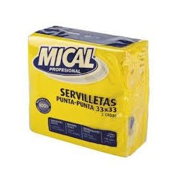 SERVILLETA MICAL AMARILLO 33X33 50U