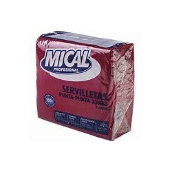 SERVILLETA MICAL BURDEOS33X33 50U