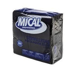 SERVILLETA MICAL NEGRA33X33 50U