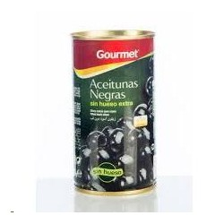 ACEITUNAS GOURMET NEGRAS S/H 150 GRS