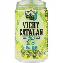 AGUA VICHY CATALAN LIMON  LATA 33 CL
