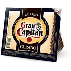 QUESO GRAN CAPITAN CURADO CUÑA 250GR