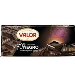 CHOCOLATE VALOR NEGRO 70% 300GR