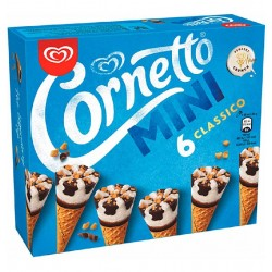 HELADO CORNETTO MINI CLAS.6U
