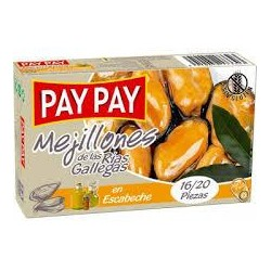 MEJILLONES ESCABECHE PAY-PAY OL-120