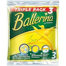 BAYETA BALLERINA LOTE 3U