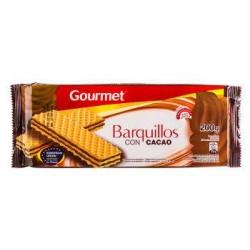 GALL.GOURMET BARQUILLO CHOCO.160G