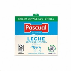 LECHE PASCUAL SEMIDESNATADA BRICK 6 UNID