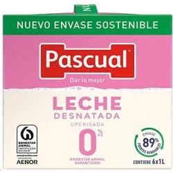 LECHE PASCUAL DESNATADA  BRICK 6 UNID