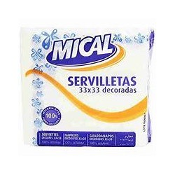 SERVILLETAS MICAL DECORADA 33X33 70