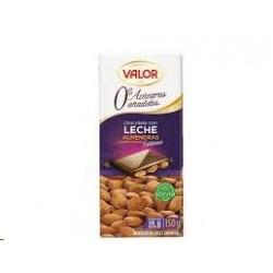 CHOCOLATE VALOR ALMENDRAS CON LECHE S/A