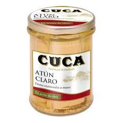 ATUN CLARO CUCA EN ACEITE OLIVA FCO 180