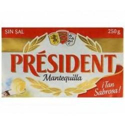 MANTEQUILLA PRESIDENT S/SAL 250 G R2901