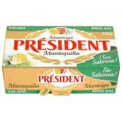 MANTEQUILLA PRESIDENT C/SAL 250G PAST