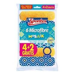 BAYETA SPONTEX MICROFIBRE MOSAIK 4+2