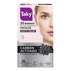 TAKY BANDAS FACIALES CARBON ACTIVO 20